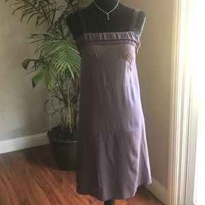 See By Chloe mid length purple silk dress